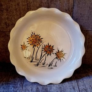 Other - Vintage print pottery pie plate